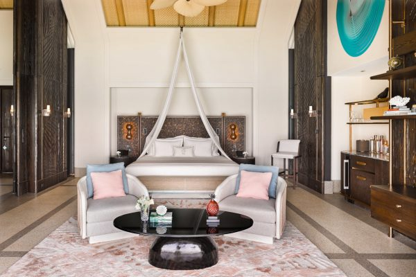Sunset Water Villa with Pool Bedroom