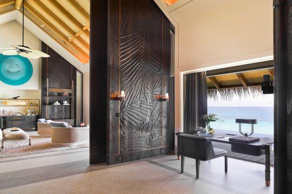 Sunset Water Villa with Pool Livingroom